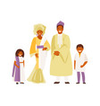 african family in traditional dress vector image vector image