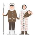 alaska people couple flat style america vector image vector image