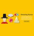 amazing korea banner horizontal concept vector image vector image