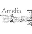 amelia island hotels vector image vector image