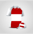 austria flag shirt design vector image