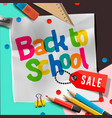 Back to school sale banner design with lettering
