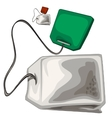 Bag with string and tag full of delicious dry tea vector image