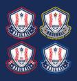 baseball championship logotypes vector image