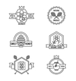 beekeeping and apiculture badges labels vector image