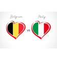 belgium vs italy flag emblem vector image vector image