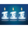 Birthday candle number 111 vector image vector image