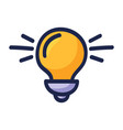 bulb light energy icon graphic design hand drawn vector image vector image