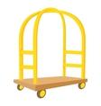 Cart in hotel icon cartoon style vector image vector image