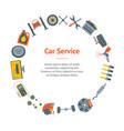 cartoon car service banner card circle vector image