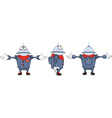 Cartoon character cute robot for computer game vector image vector image