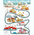 city landscape winter day vector image