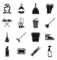 Cleaning simple icons vector image