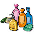 collection shampoo and soap vector image vector image