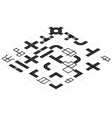 constructor roads in isometric view vector image vector image