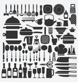 cookware kitchen set vector image