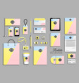 corporate identity template set and branding vector image vector image
