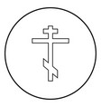 cross eight-pointed of greek-catholic orthodox vector image