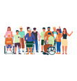 diverse disabled people handicapped men and women vector image vector image