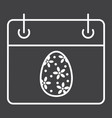 easter calendar line icon easter and holiday vector image