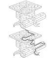 easy academic cap maze vector image