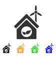 eco house building icon vector image vector image