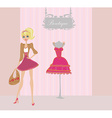 Elegant shopping woman vector image vector image