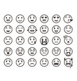 emoticons outline emoji faces emoticon funny vector image vector image