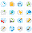 Flat Icons Graphic Design and Creativity Icons vector image vector image