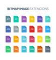 flat style icon set bitmap image file type vector image vector image