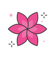 floral or spa logo filled outline icon vector image vector image