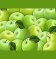 fruit background for business green ripe apples vector image vector image