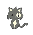 funny flat cat vector image vector image