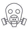 gas mask respirator line icon sig vector image vector image