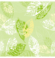Green Seamless Background with Leaves vector image vector image