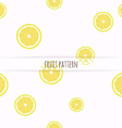 hand drawn lemons seamless pattern vector image vector image