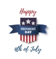 Happy 4th of July background template vector image vector image