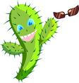 Happy Cactus vector image