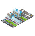 isometric public transport template vector image vector image