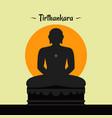 jain teacher tirthankara in sitting position vector image vector image