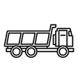 loaded farm truck icon outline style vector image vector image
