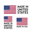 made in usa label tag template vector image