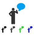 man idea balloon flat icon vector image