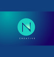 n letter logo icon design with paper cut creative vector image vector image