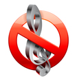 No music sign vector image vector image