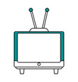 old tv design vector image