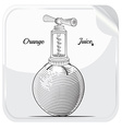 Orange Juice label object vector image
