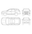 outline off-road write car or modern vip transport vector image vector image