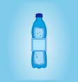 paper art carve of water bottle vector image vector image