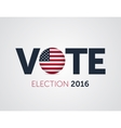 patriotic 2016 voting poster presidential vector image vector image